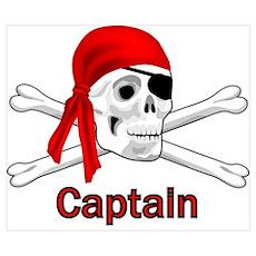Pirate Captain Skull and Bones Poster