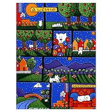 Westie Adventures Poster