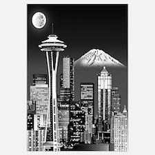 Night Seattle Skyline w/ Space Needle(B&amp