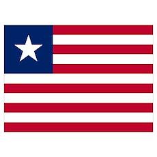 Liberian flag of Liberia Poster