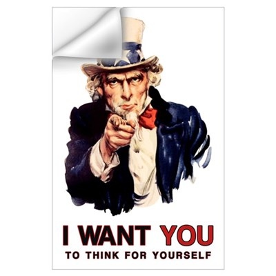 Think For Yourself Print (Mini) Wall Decal