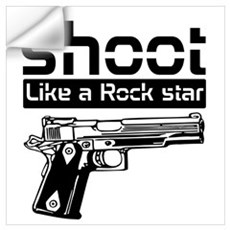 shoot like a rockstar Wall Decal