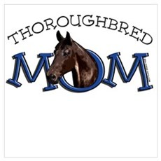 Thoroughbred Mom. TB Horse Poster