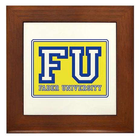 Faber University Animal House Framed Tile