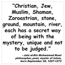 Rumi Mystery Quote Poster
