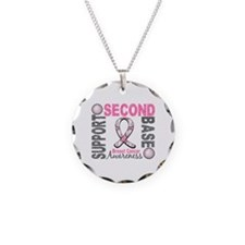 Second 2nd Base Breast Cancer Necklace