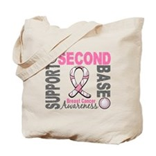 Second 2nd Base Breast Cancer Tote Bag