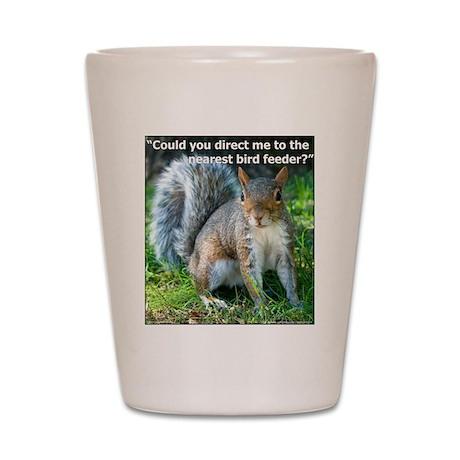 Squirrel Bird Shot Glass