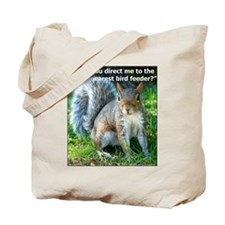 Squirrel Bird Tote Bag