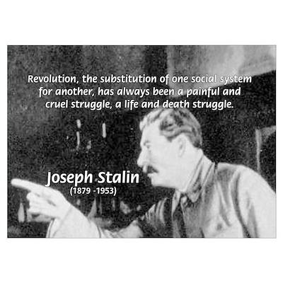 Joseph Stalin Revolution Poster