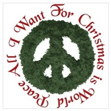 Christmas World Peace Poster