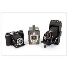 Retro Cameras Canvas Art