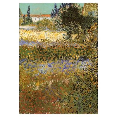 Van Gogh Flowering Garden Poster