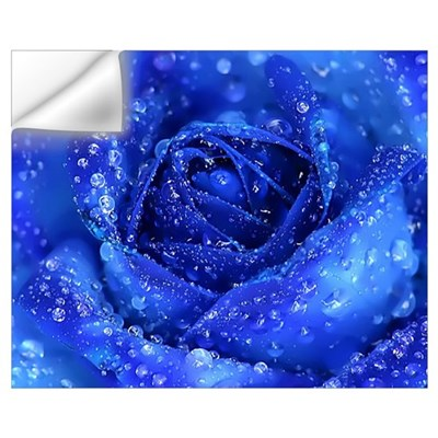 Blue Rose Wall Decal