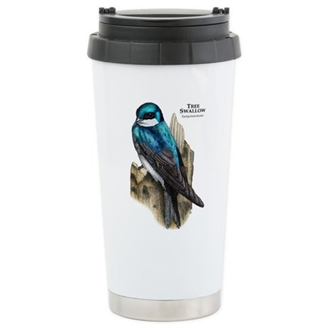 Tree Swallow Stainless Steel Travel Mug
