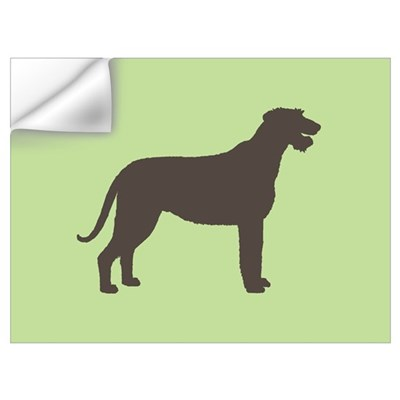 Green/Brown Irish Wolfhound Wall Decal