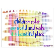 Click here:Children Color the Framed Print