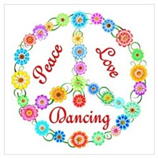 Dancing Peace Sign Poster