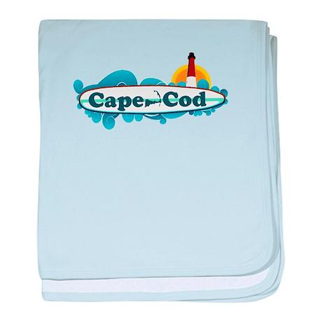 Cape Cod MA - Surf Design baby blanket