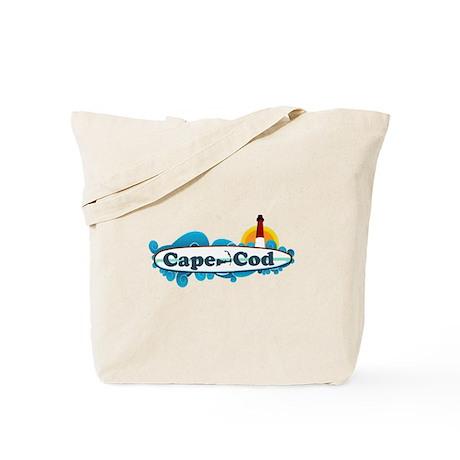 Cape Cod MA - Surf Design Tote Bag