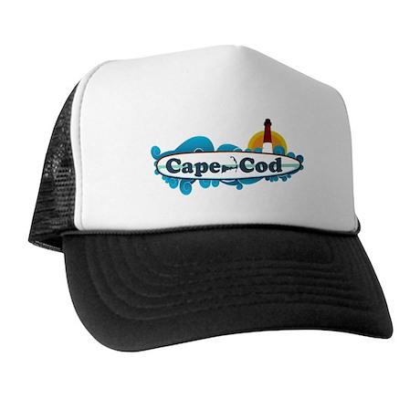 Cape Cod MA - Surf Design Trucker Hat
