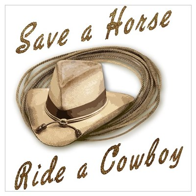 Save a Horse, Ride a Cowboy Framed Print