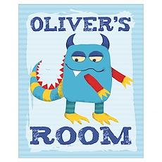 Oliver's ROOM Mallow Monster Poster