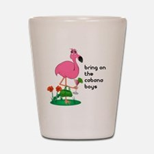 Flamingo Funny Shot Glass