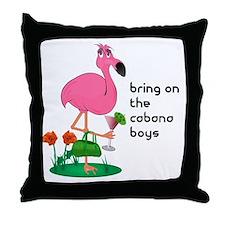 Flamingo Funny Throw Pillow