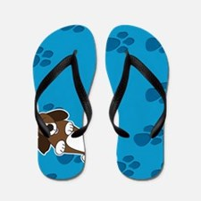 Happiness is a Basset Hound Flip Flops