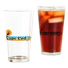 Cape Cod MA - Beach Design Drinking Glass