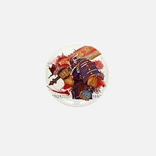 Ninja Skin Bloody Shogun Samurai Black Mini Button