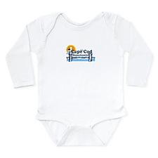 Cape Cod MA - Pier Design Long Sleeve Infant Bodys