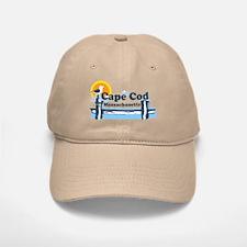 Cape Cod MA - Pier Design Baseball Baseball Cap