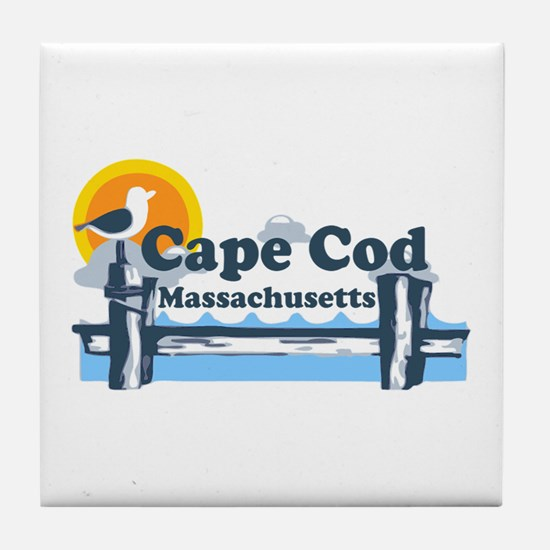 Cape Cod MA - Pier Design Tile Coaster
