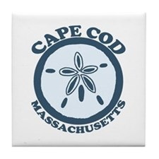 Cape Cod MA -Sand Dollar Design Tile Coaster