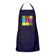 Uterine Cancer Survivor Tile Apron (dark)