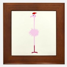 Pink Christmas Flamingo 3 Framed Tile
