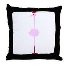 Pink Christmas Flamingo 3 Throw Pillow