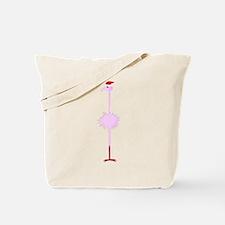 Pink Christmas Flamingo 3 Tote Bag