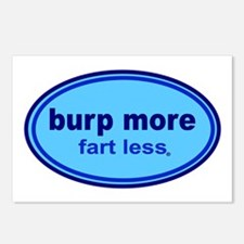 Burp More, Fart Less Postcards (Package of 8)