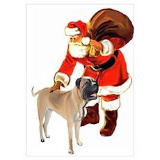 Bullmastiff Christmas Poster