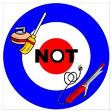 Curling NOT Curling Poster