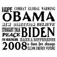 Obama Words of Hope Poster