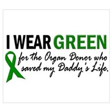 I Wear Green 2 (Daddy's Life) Canvas Art