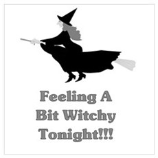 Feeling witchy tonight grey Framed Print