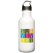 Prostate Cancer Survivor Tile Sports Water Bottle