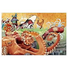 Octopus 11 x 17 Print Poster
