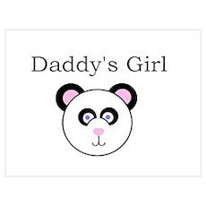Daddy's Girl - Panda Poster