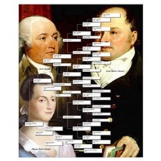 John Q. Adams Genealogy Poster